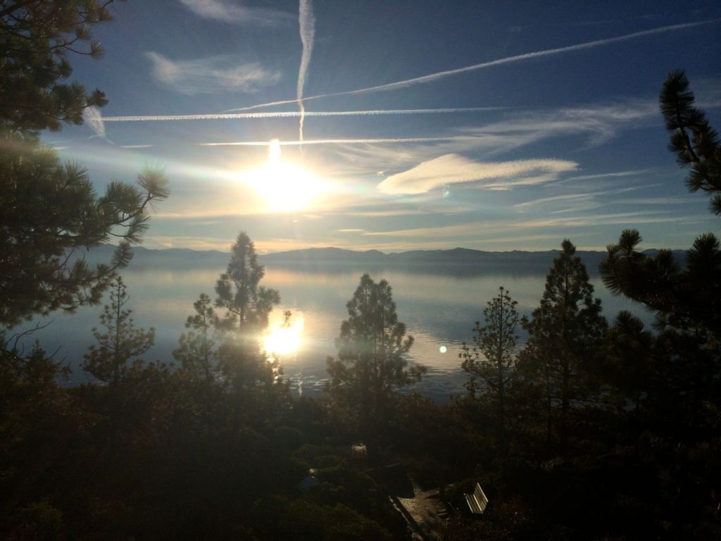 Sunset at Crystal Bay overlook, Incline Village NV