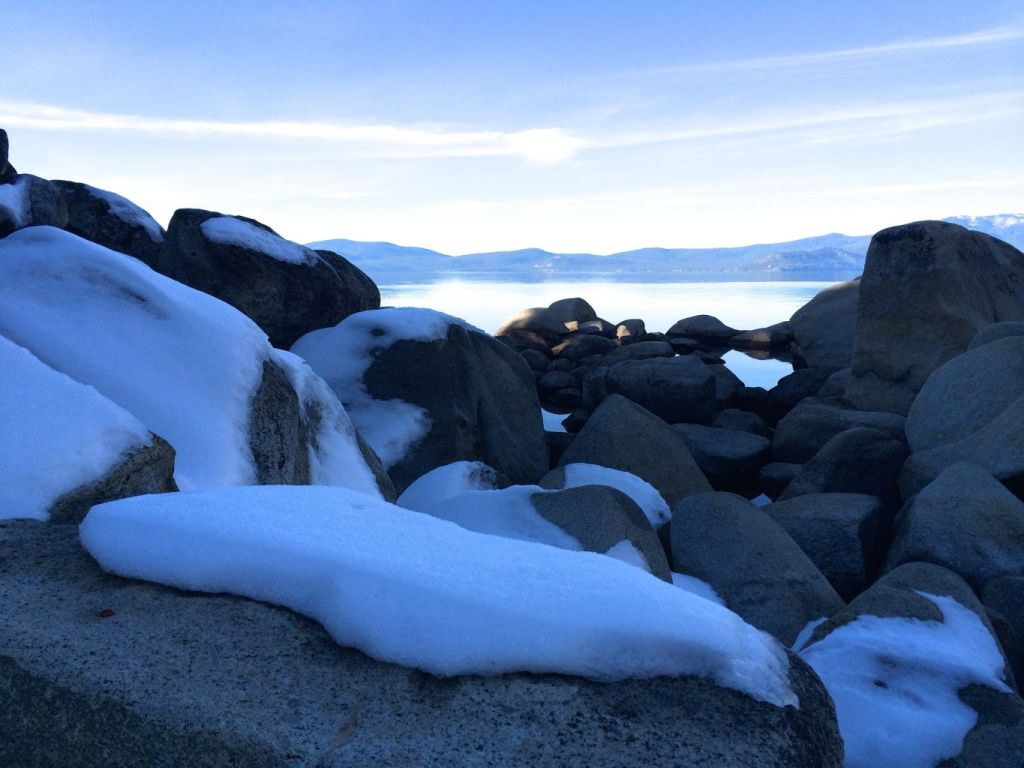 Snow on Lake Tahoe
