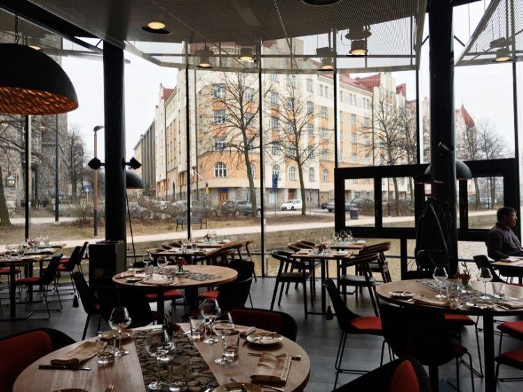 Helsinki's floating restaurant