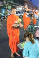 Alms giving in Thailand