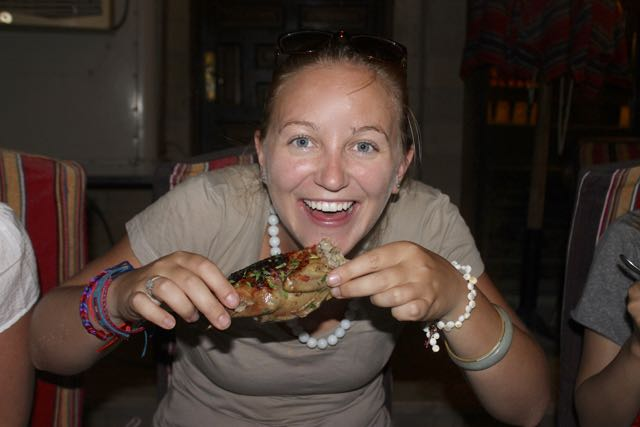Eating pigeon in Egypt