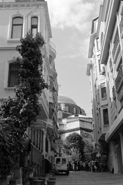 Istanbul street Black and White photos