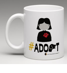 #adopt female mug merchandise