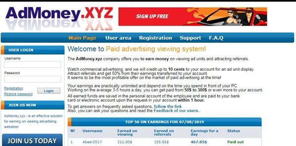 AdMoney.xyz Reviews