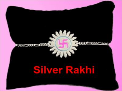 silver rakhi