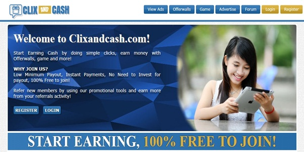 Clixandcash.com Reviews