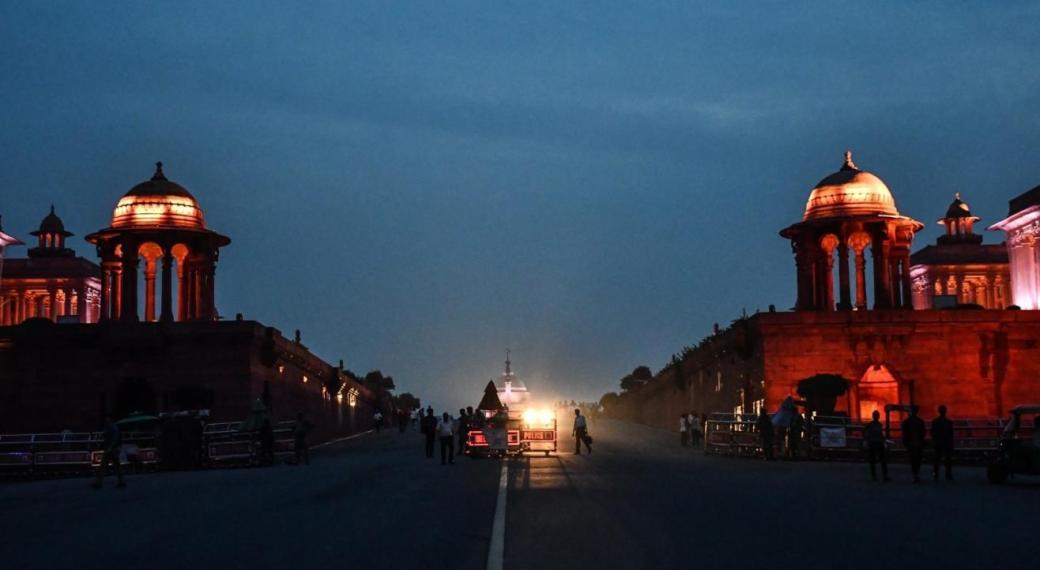 Image result for rashtrapati bhawan at night