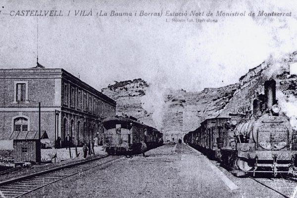 ferrocarril estacio del nord 1916