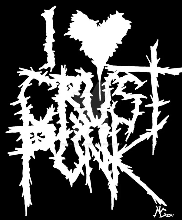 I Heart Crust Punk by CrashyBandicoot (http://crashybandicoot.deviantart.com/art/I-Heart-Crust-Punk-272019342)