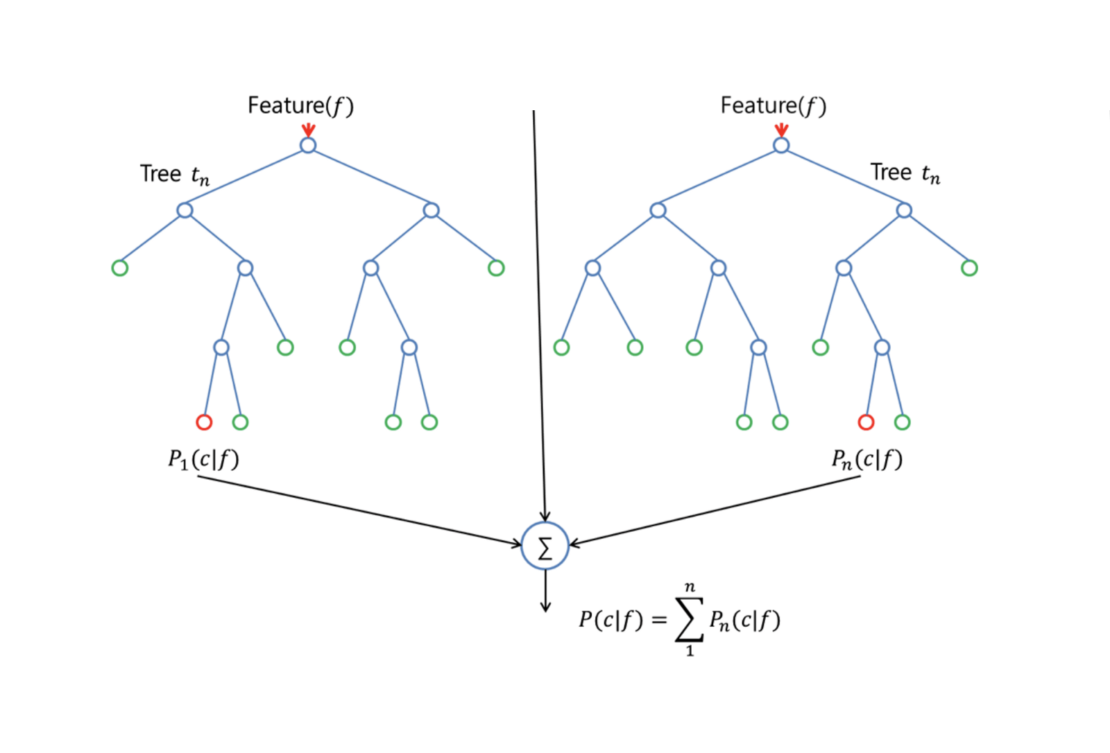 hight resolution of the split is allowed to use only one of those m predictors this is the main difference between random forests and bagging because as in bagging