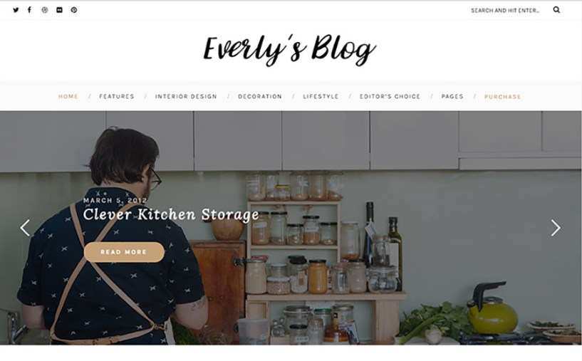 Everly - Hipster Blogging WordPress Theme