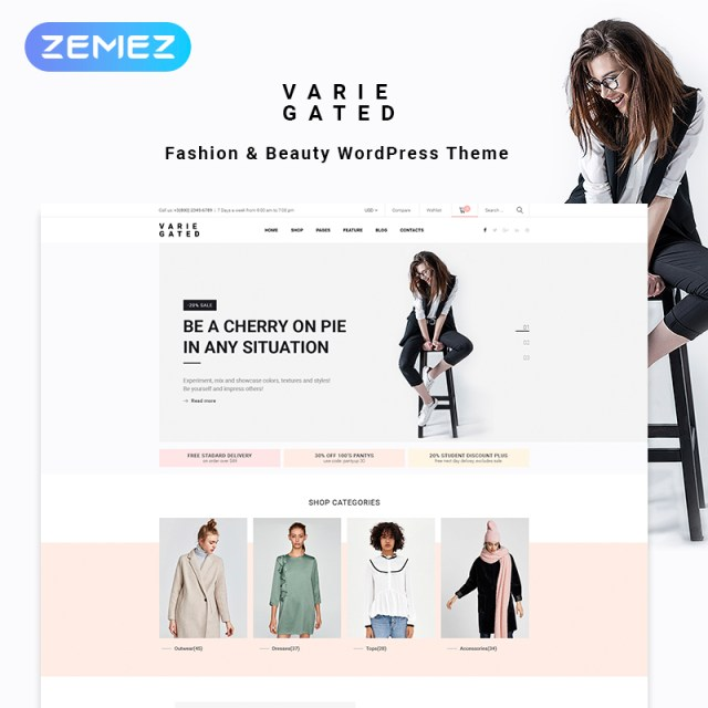 Varie Gated - Fashion Online Store Elementor WooCommerce Theme
