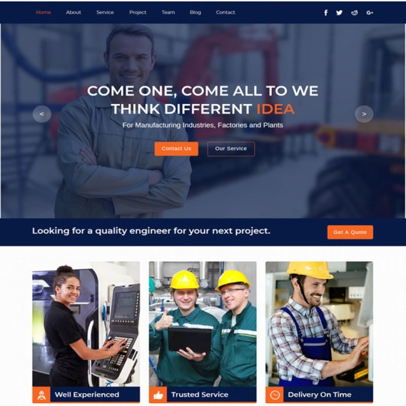 Industrial - Industry And Factory Muse Template