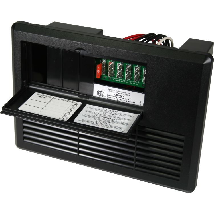 Wfco 35 Amp Distribution Panel Black Power Converters Electrical