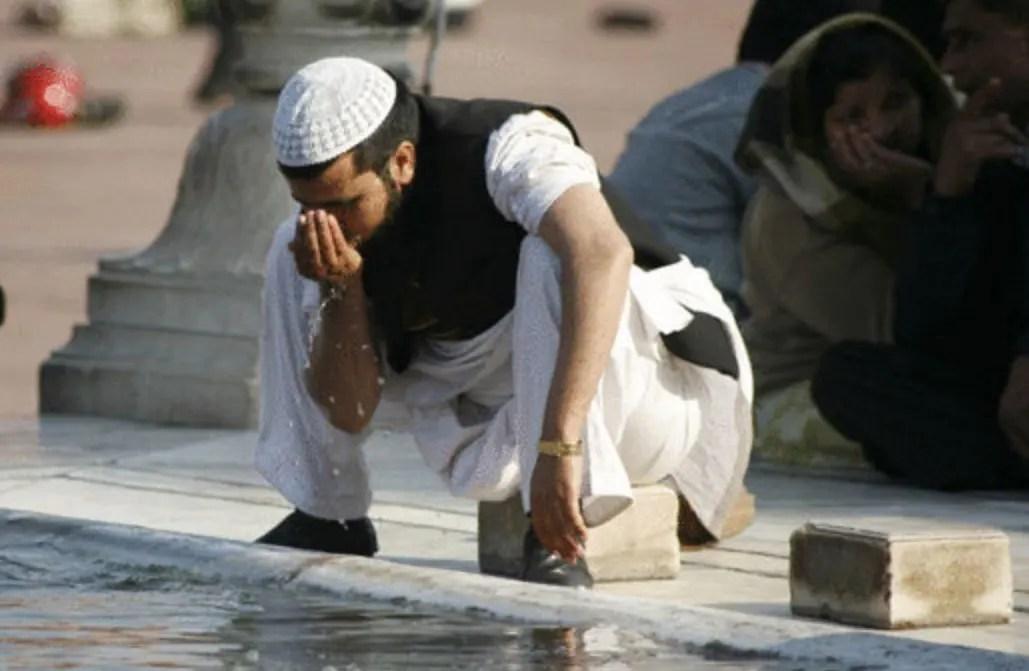 niat wudhu dan doa sesudah wudhu