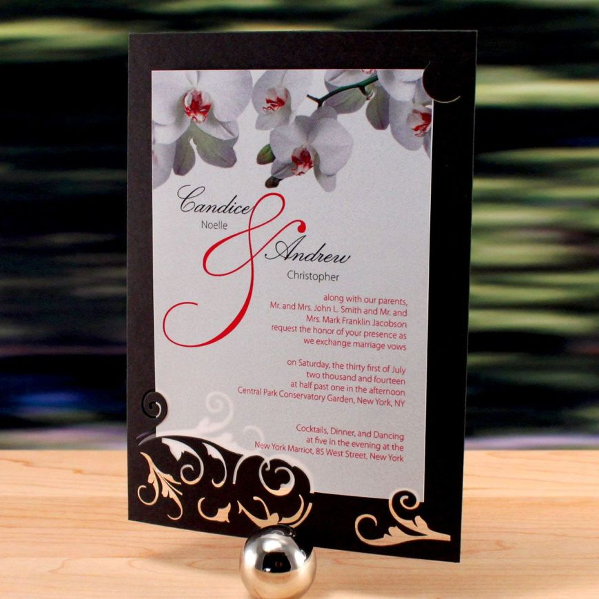 Laser Expressions Classic Orchid Double Luxe Invitation