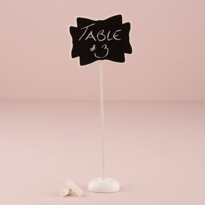 Decorative Chalkboard with Stand - Medium White