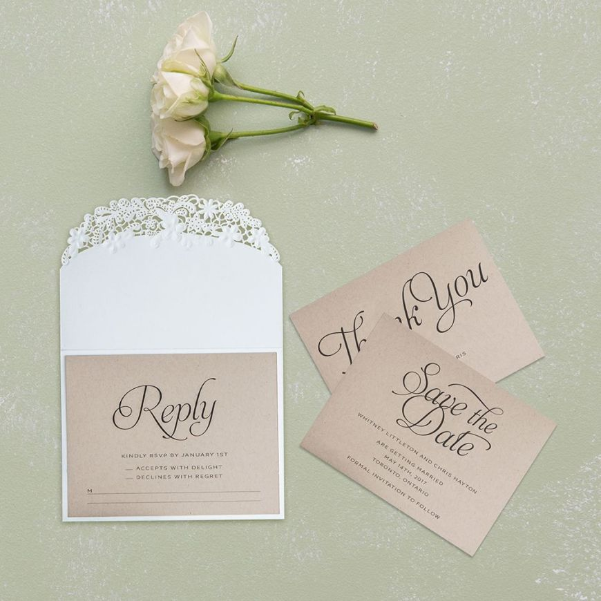 Embossed Floral Elegance with Rustic Elegance Personalization - Accessory Cards