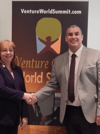Venture Capital World Summit, Karen Newton and Elio Assuncao