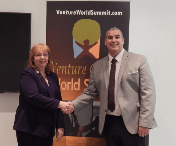 Venture Capital World Summit, Karen Newton and Elio Assuncao