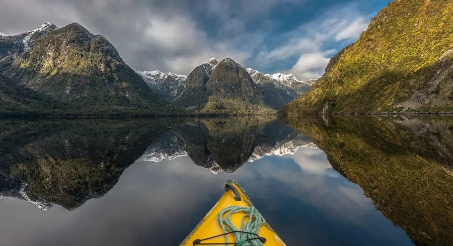 Enchanting Travels New Zealand Tours Panoramic view of Doubtful Sound a crowd-free travel destination in New Zealand