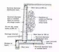 Retaining Wall - Flexural Reinforcement from Stem Into ...