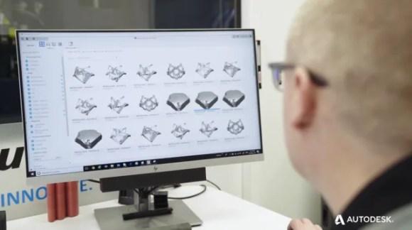 Using Fusion 360 Generative Design. (Image courtesy of Autodesk.)