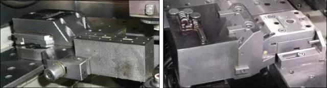Vis de fixation latérale (gauche). (À droite) Show Top Clamp. (Satisfaction de l'image avec Makino.)