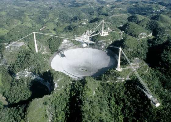 This is what Arecibo looked like when it was in working order.