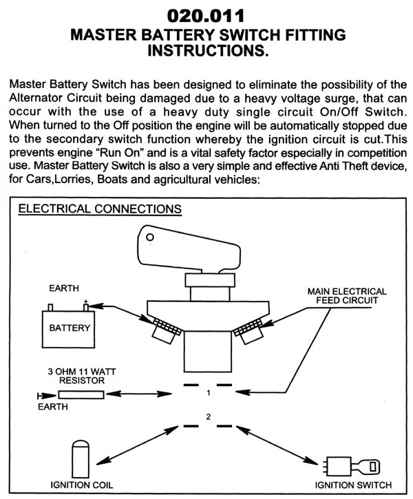 wiring in a kill switch  automotive electrical  sensor