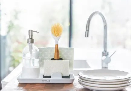 grove co sink side caddy plastic free