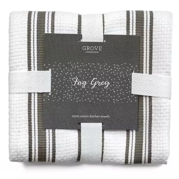 gray kitchen towels counter rack grove collaborative towel fog