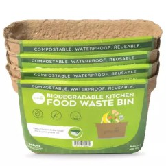 Compost Bin For Kitchen Costco Small Appliances Green Lid Bins Starter Set Of 4