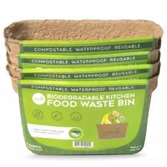 Compost Bin For Kitchen Interactive Design Green Lid Bins Starter Set Of 4