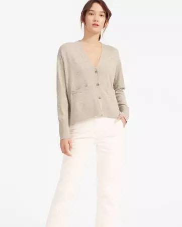 The Cashmere Square V-Neck Cardigan - Everlane