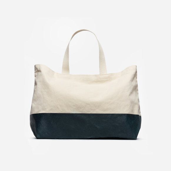 the beach canvas tote