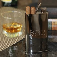 Exclusively Weddings | Personalized Gunmetal Flask and ...