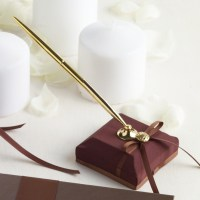 Chocolate Wedding Pen Set