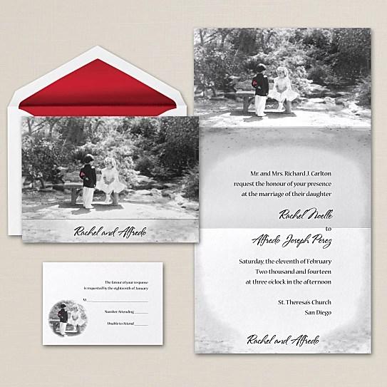 Soul Mate Photo Wedding Invite