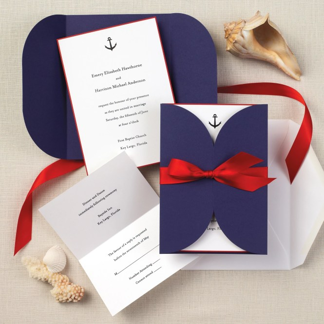 Ombre And Gold Foil Nautical Wedding Invitations By Carina Skrobeck Design Via Oh So Beautiful Paper