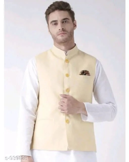 Hangup Mens Stylish Solid Ethnic Jacket Vol 1 (4)