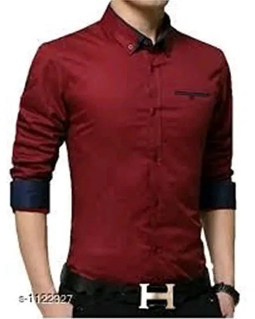Elite Men's Designer Cotton Solid Shirts Vol 2 (5)