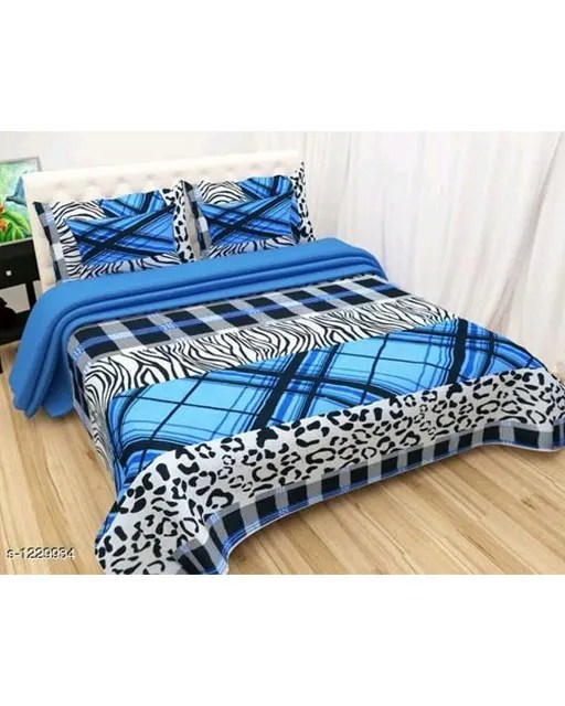 Blissful Comfort Glace Cotton Printed Double Bedsheets Vol 17