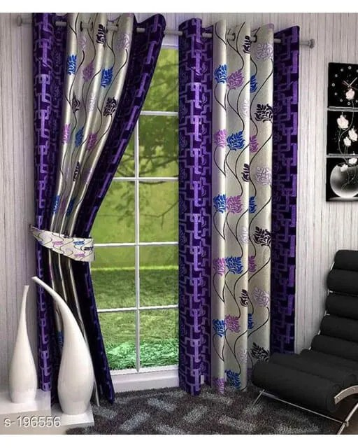 Printed Polyester Door Curtains Vol 2-8