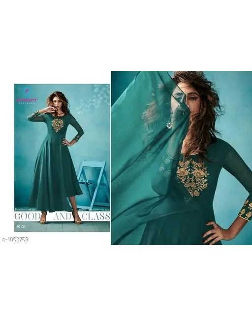 Maisha Elegant Faux Georgette Embroidered Kurti Web Vol24