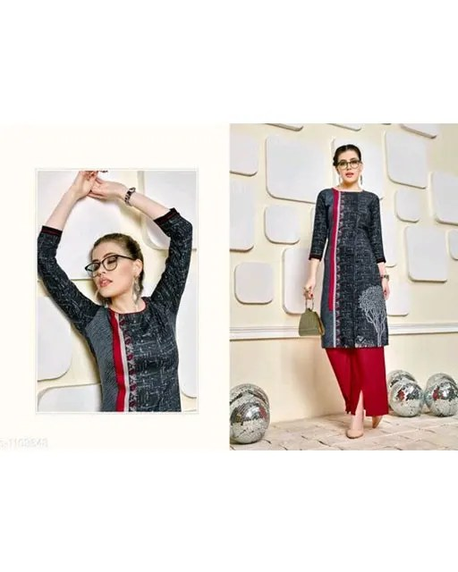 Women's Straight Rayon Kurtis Vol 3 (7)
