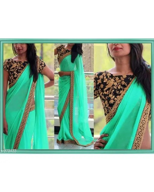Gorgeous Georgette Thread Work Saree web (4)