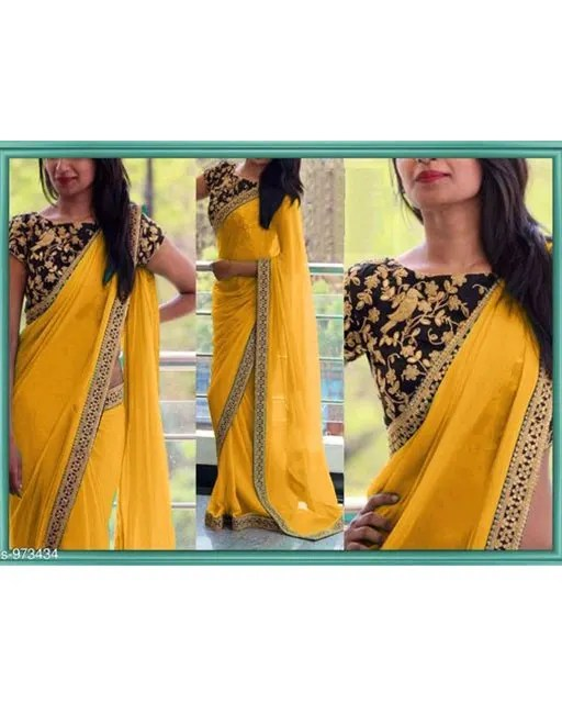 Gorgeous Georgette Thread Work Saree web (5)