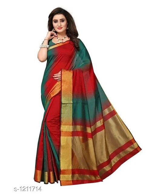 Jivika Attractive Cotton Silk Women's Sarees web (4)