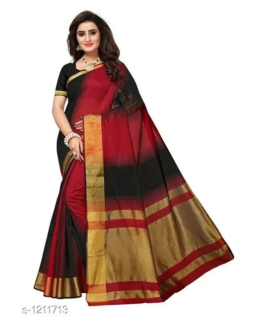 Jivika Attractive Cotton Silk Women's Sarees web (2)